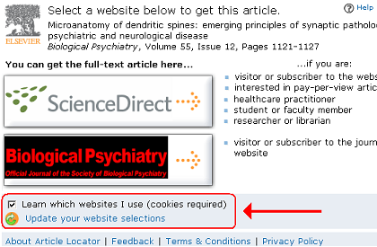 Elsevier's Article Locator